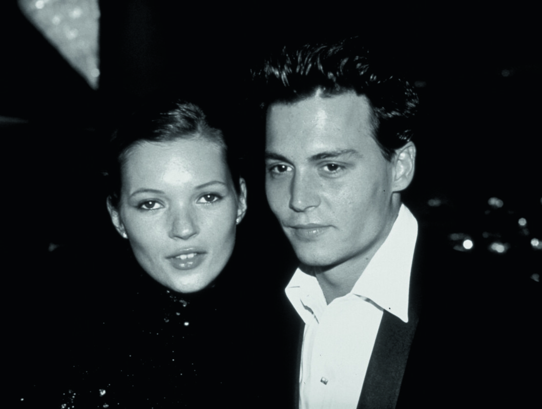 Johnny Depp And Kate Moss At The Golden Globe Awards