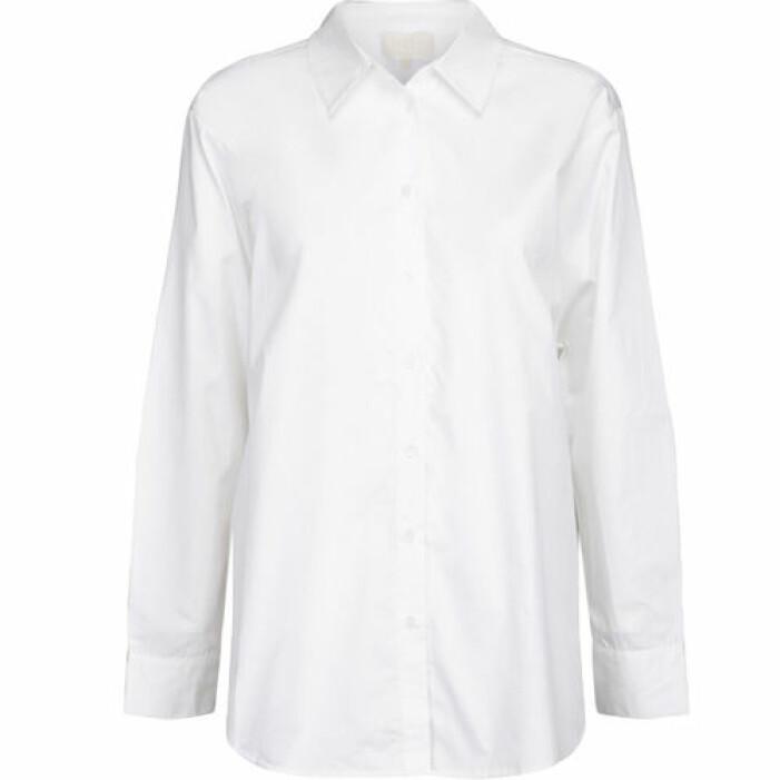 Vit bomullsskjorta i oversize-modell från Minus