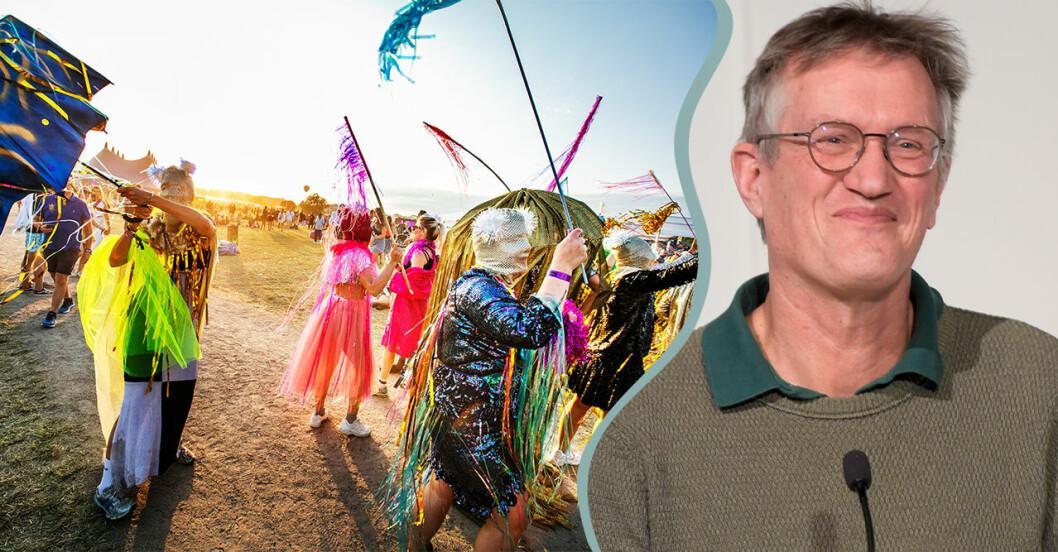 Festivalsommarens räddning – Anders Tegnell öppnar upp för galej.