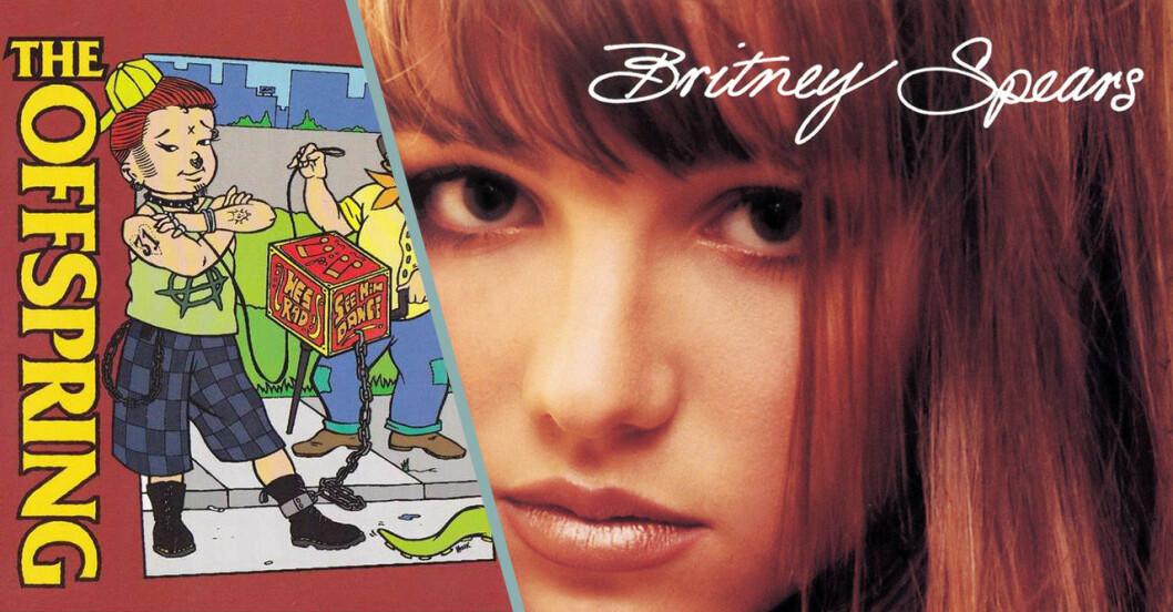 20 hits från 1999, här med The Offspring och Britney Spears.