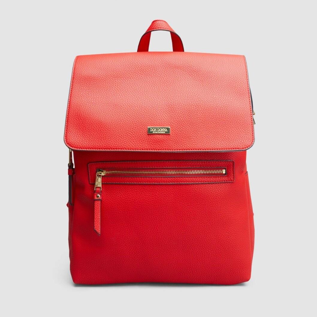 Röd ryggsäck från Don Donna