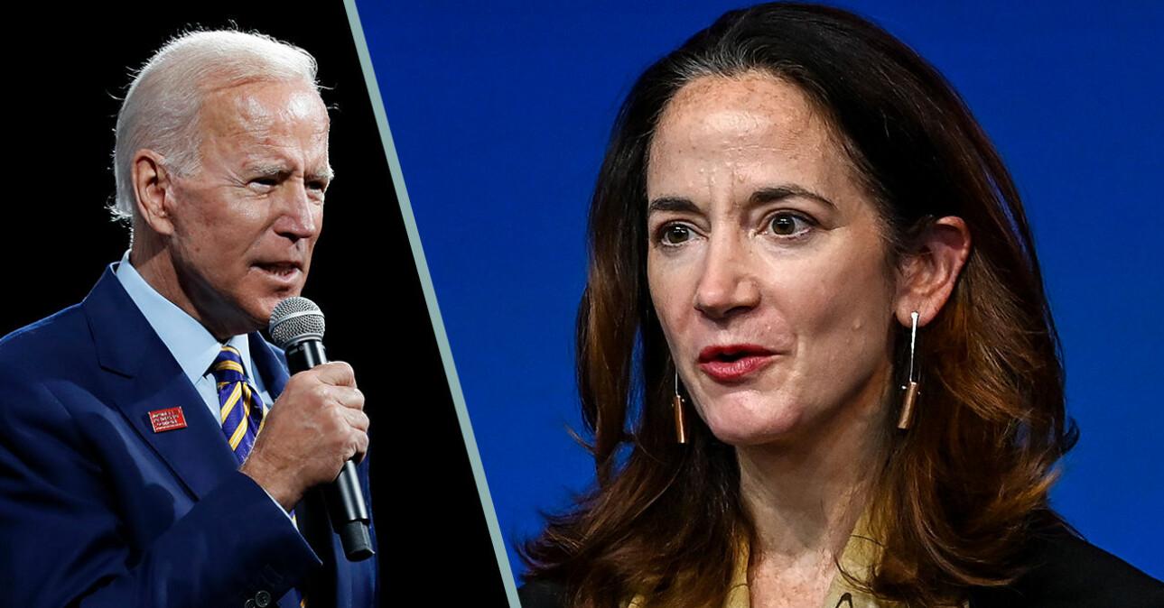 Joe Biden och Avril Haines 2020.