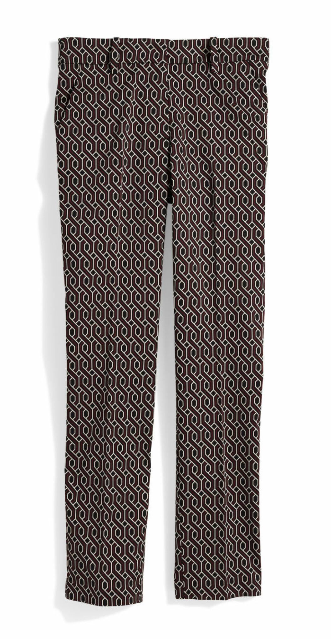 H&M GP & J Baker småmönstrade byxor