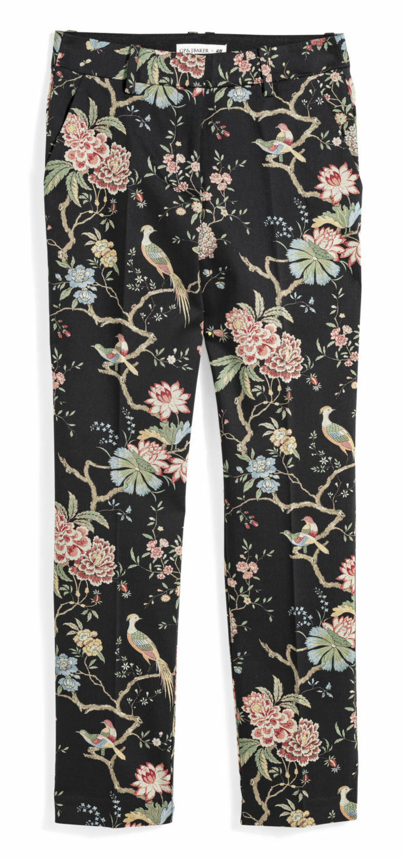 H&M GP & J Baker blommiga svarta byxor