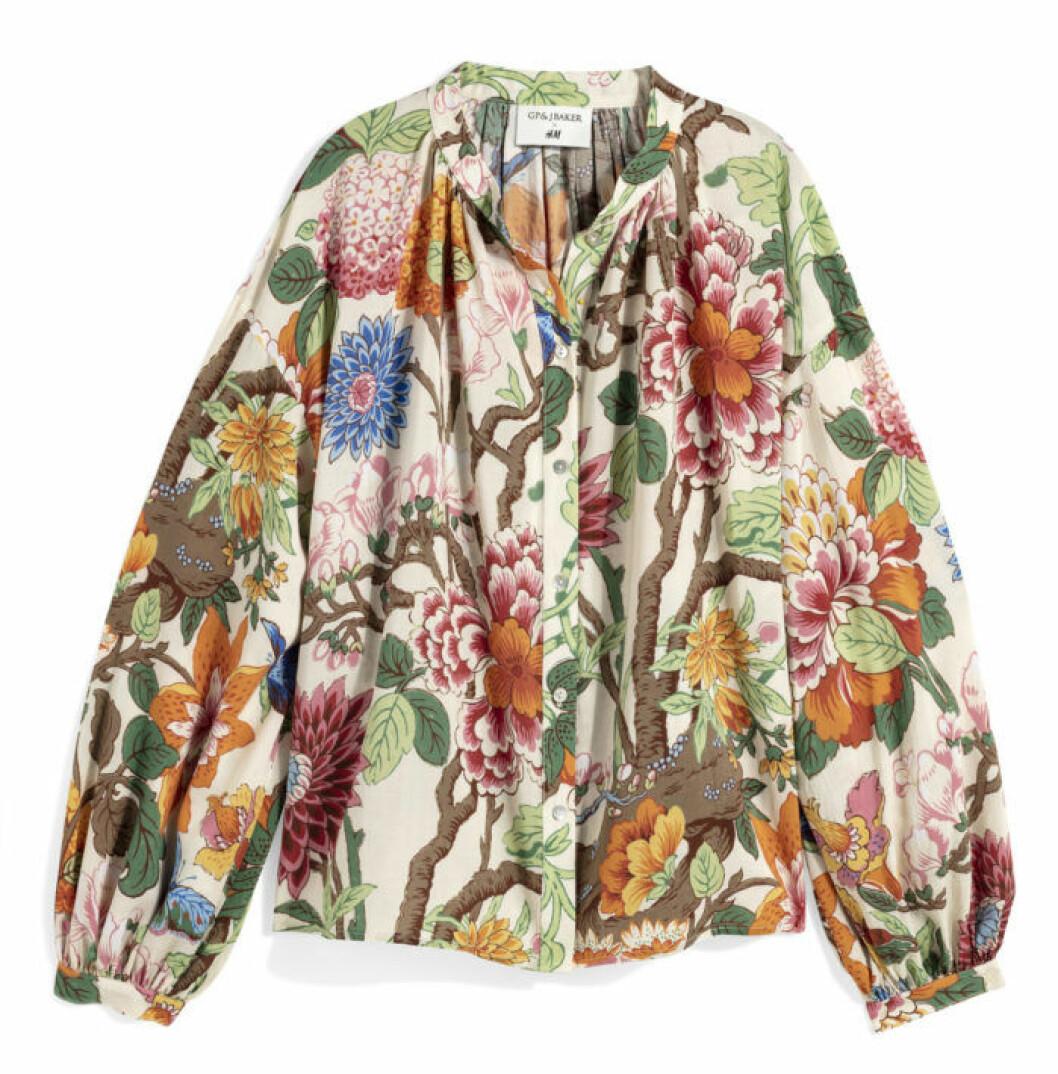 H&M GP & J Baker ljus blommig jacka