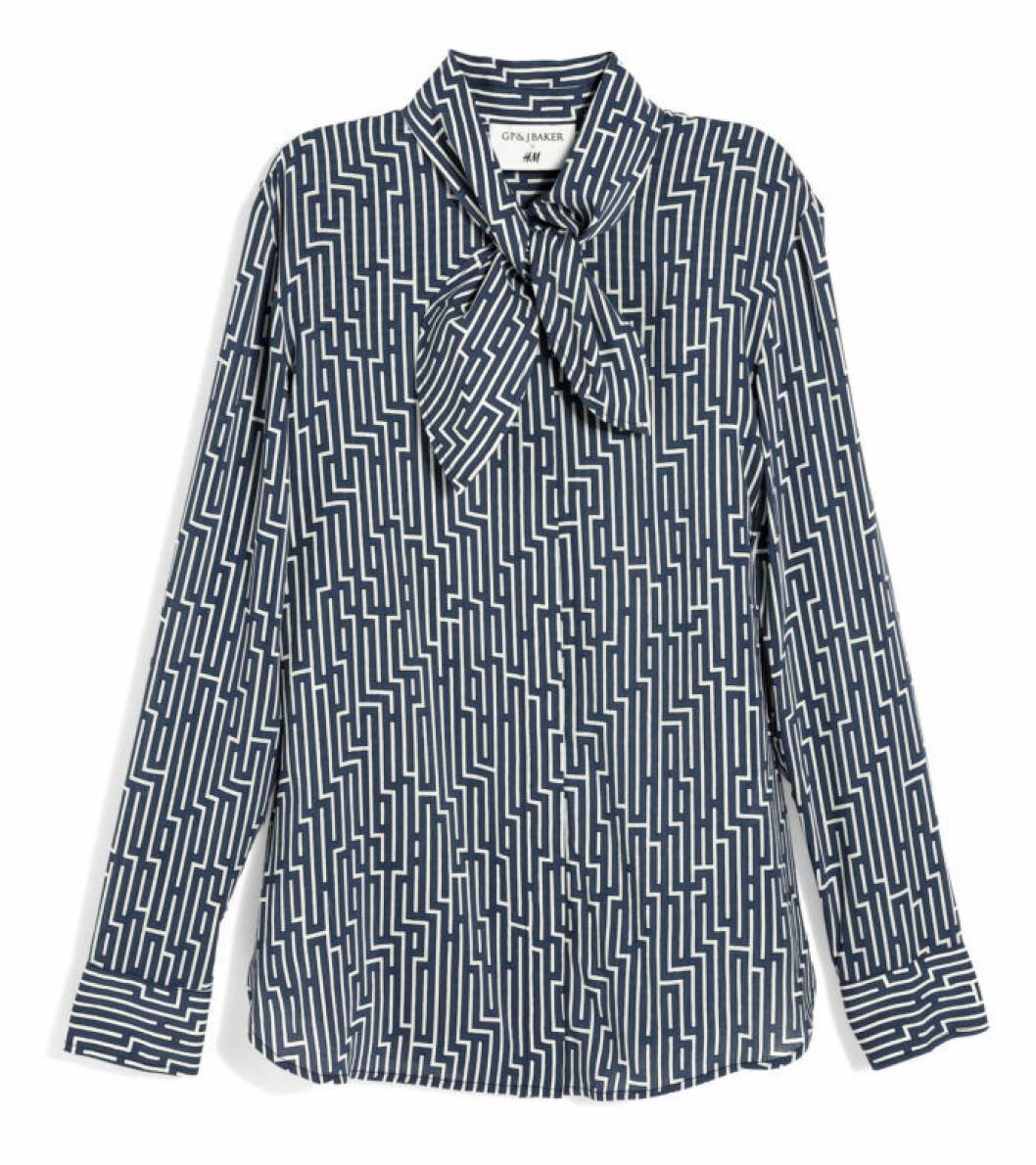 H&M GP & J Baker geometrisk mönstrad skjorta
