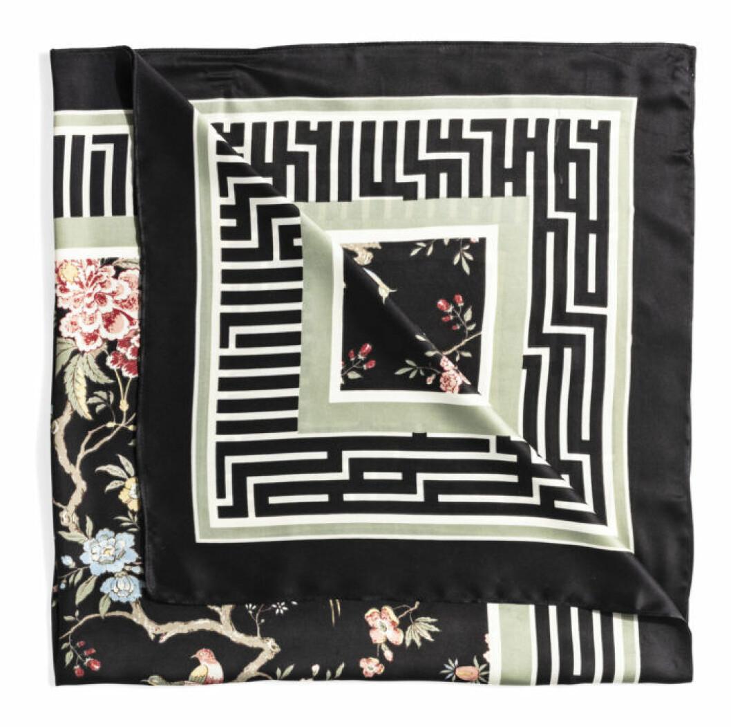 H&M GP & J Baker svart scarfs