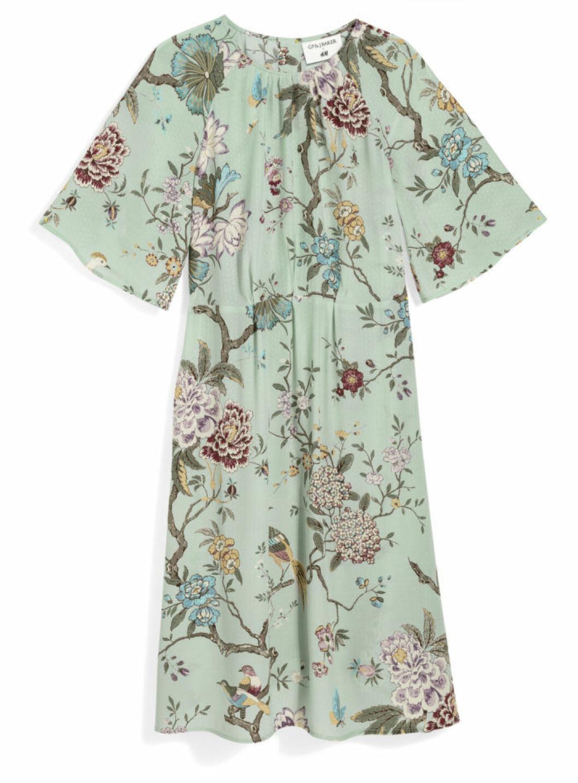 H&M GP & J Baker mintgrön mönstrad klänning