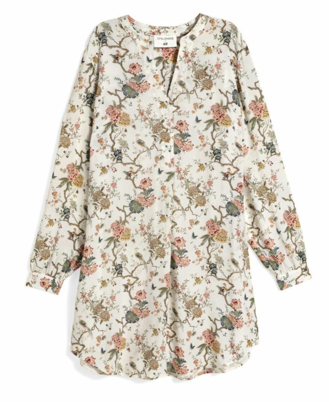 H&M GP & J Baker blomönstrad skjortklänning