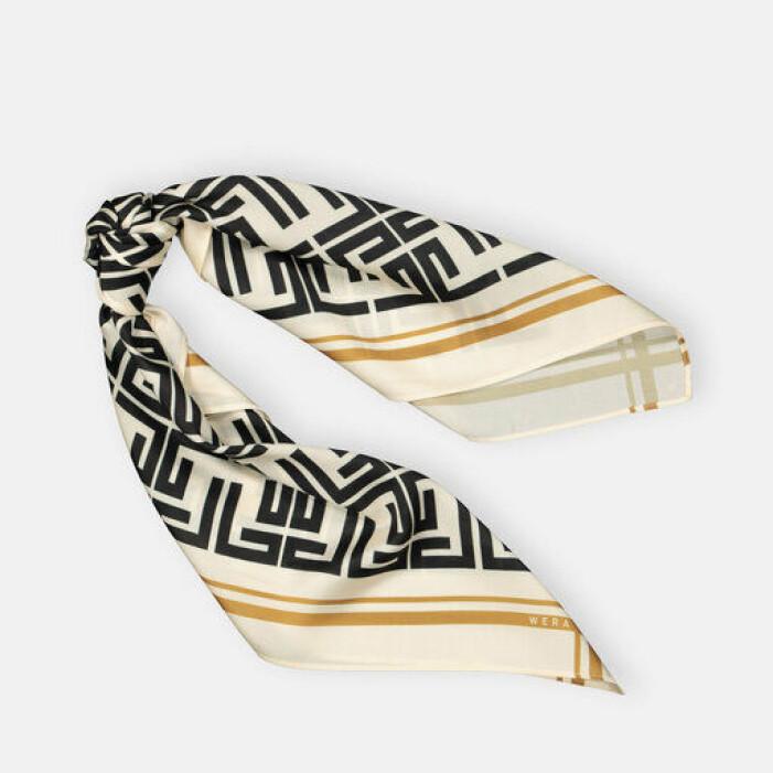 scarf med svart och vitt mönster från wera