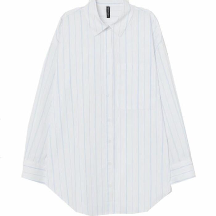 Vit skjorta med ränder från H&M.