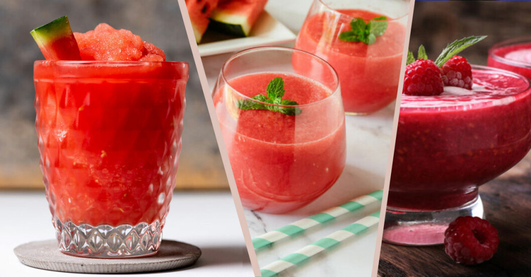 5 frozen drinks med vattenmelon