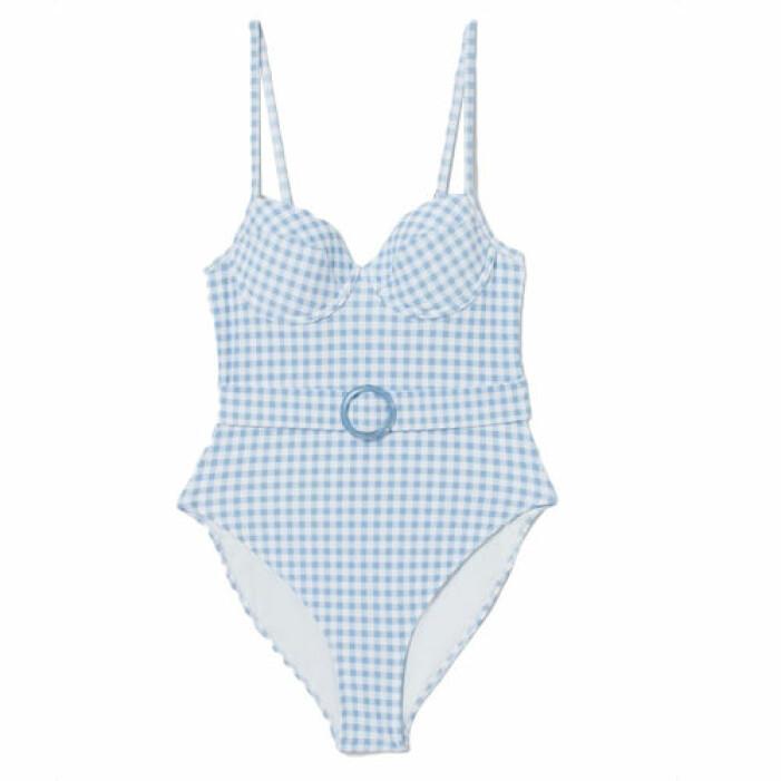 Blå baddräkt med skärp från H&M
