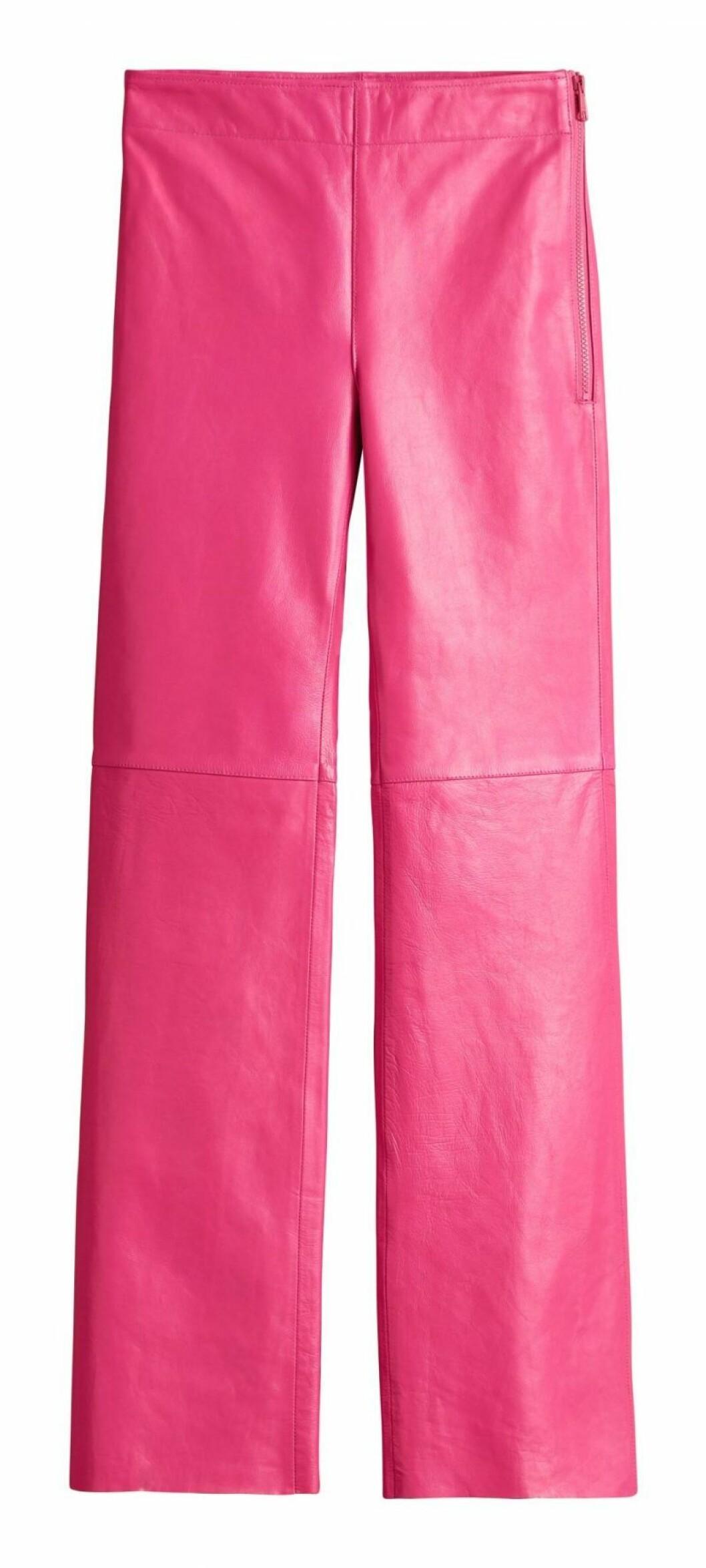 Rosa skinnbyxor H&M Studio SS20