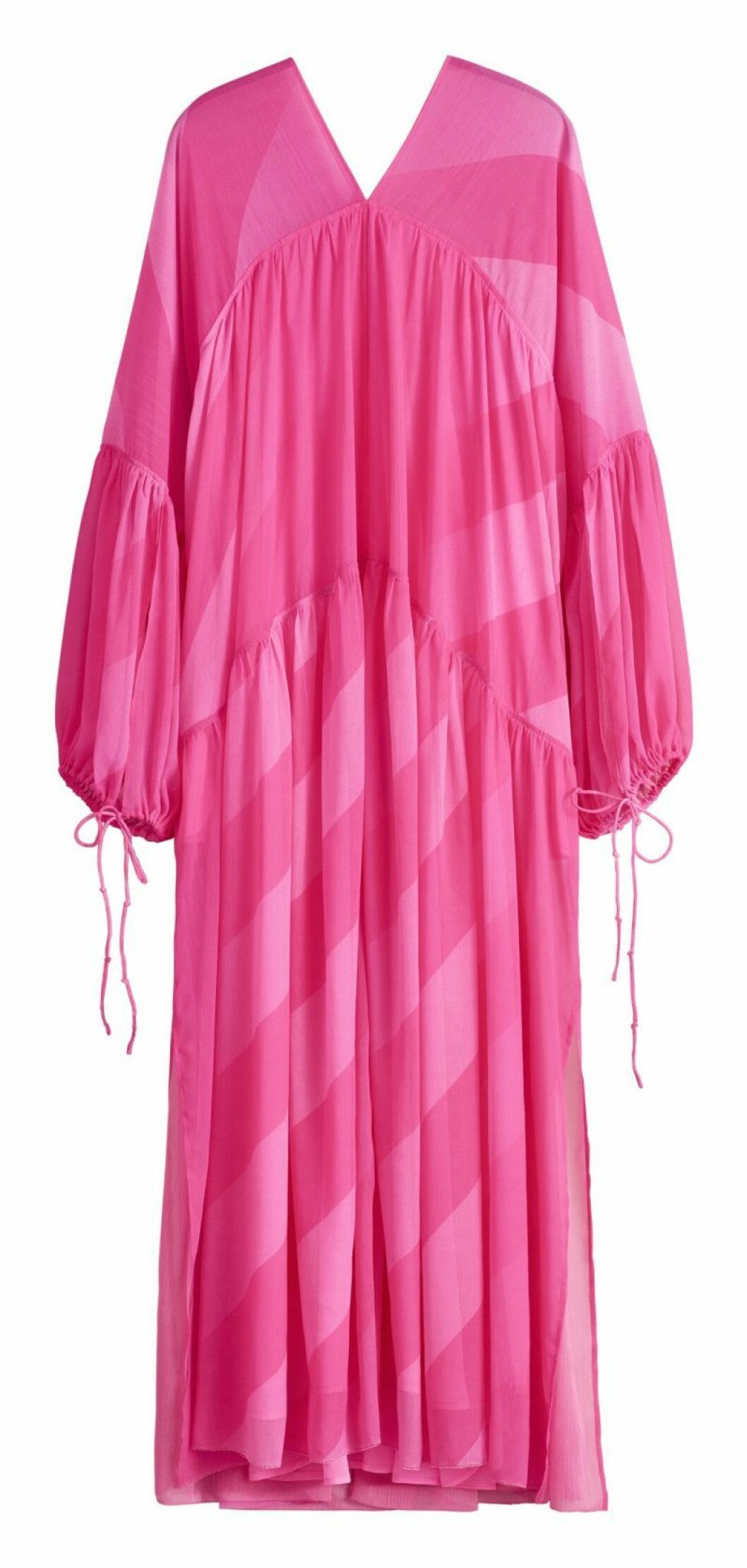 Rosa maxiklänning från H&M Studio SS20
