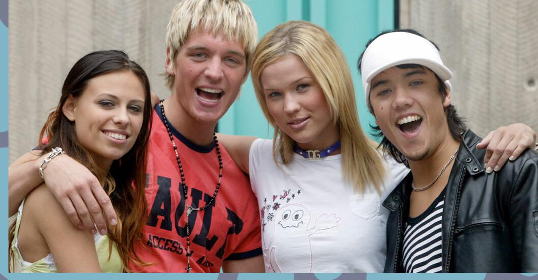 Gruppbild på popgruppen A-Teens