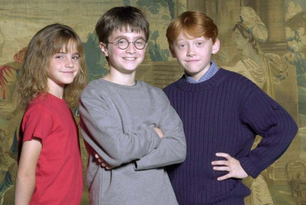 Harry Potter Nostalgibild på Daniel Radcliffe, Emma Watson och Rupert Grint