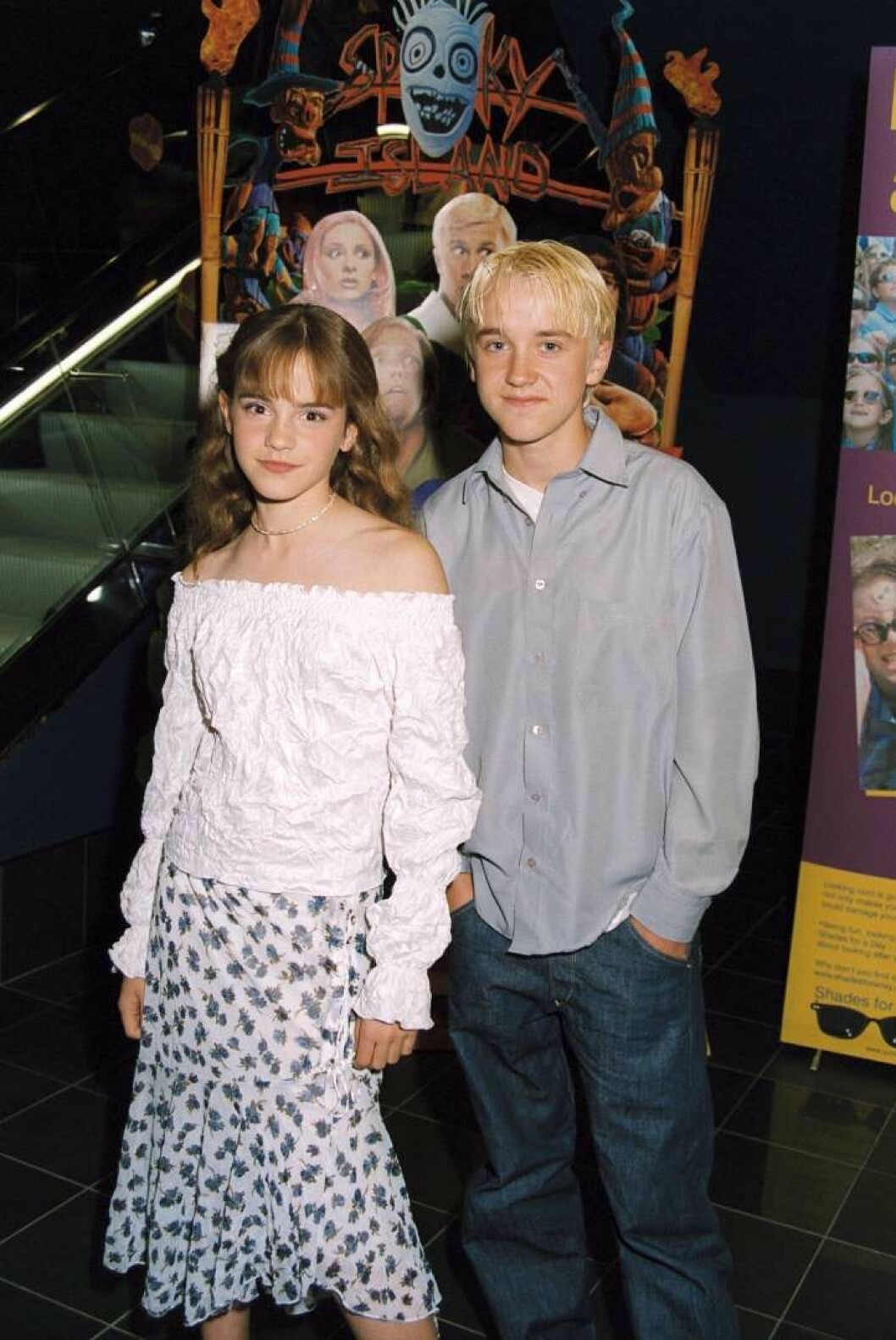 Emma Watson och Tom Felton från Harry Potter på Röda mattan