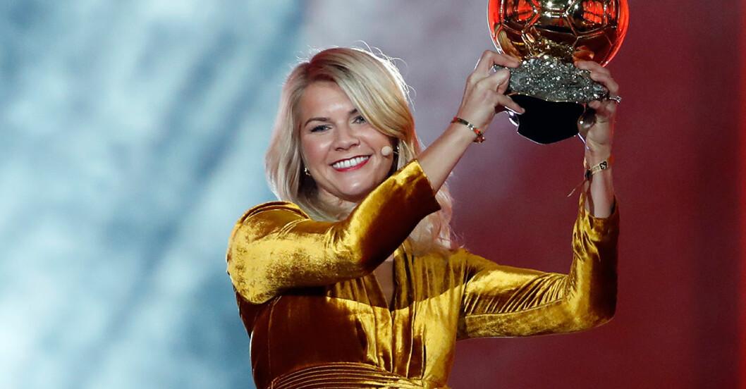 Ada Hegerberg är första kvinnan att vinna Ballon d'Or
