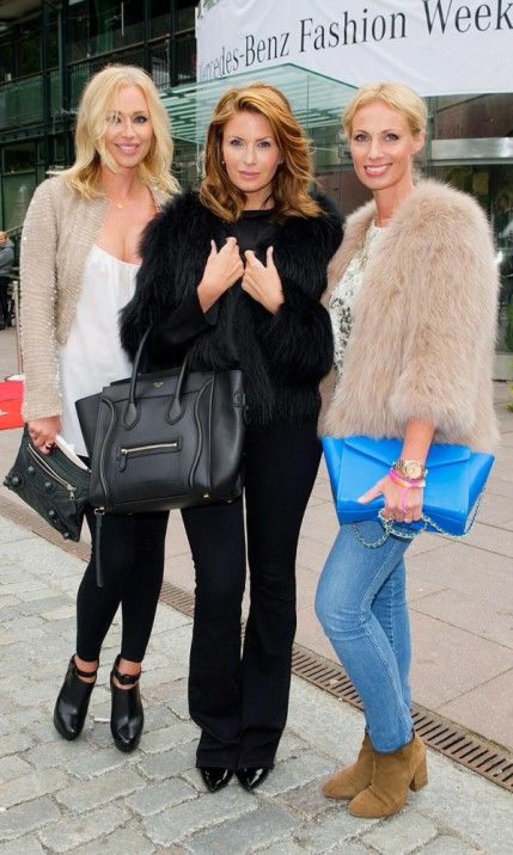 Isabel Adrian, Carolina Gynning och Charlotta Flinkenberg.