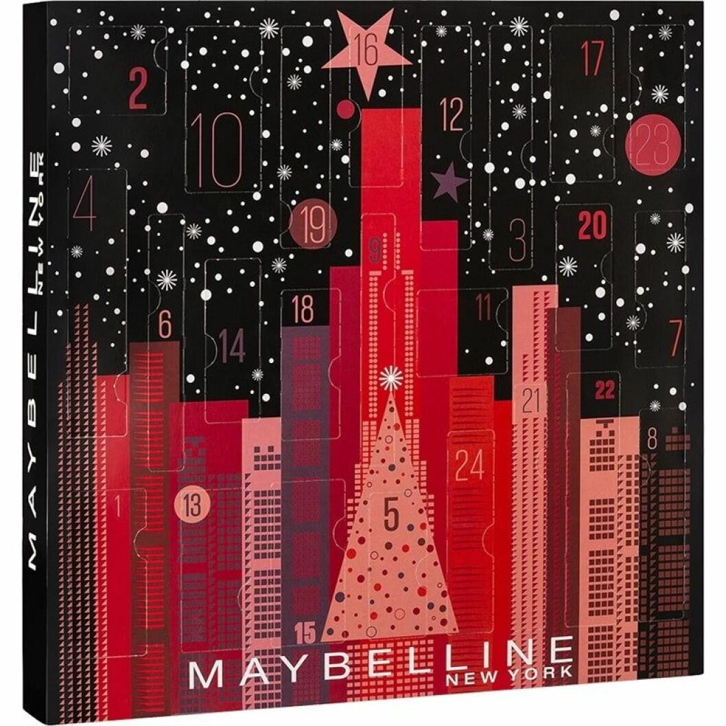 Adventskalender från Maybelline med smink till 2019