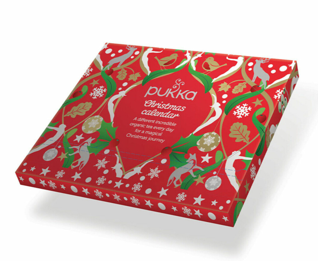 Adventskalender med te för vuxna till julen 2019