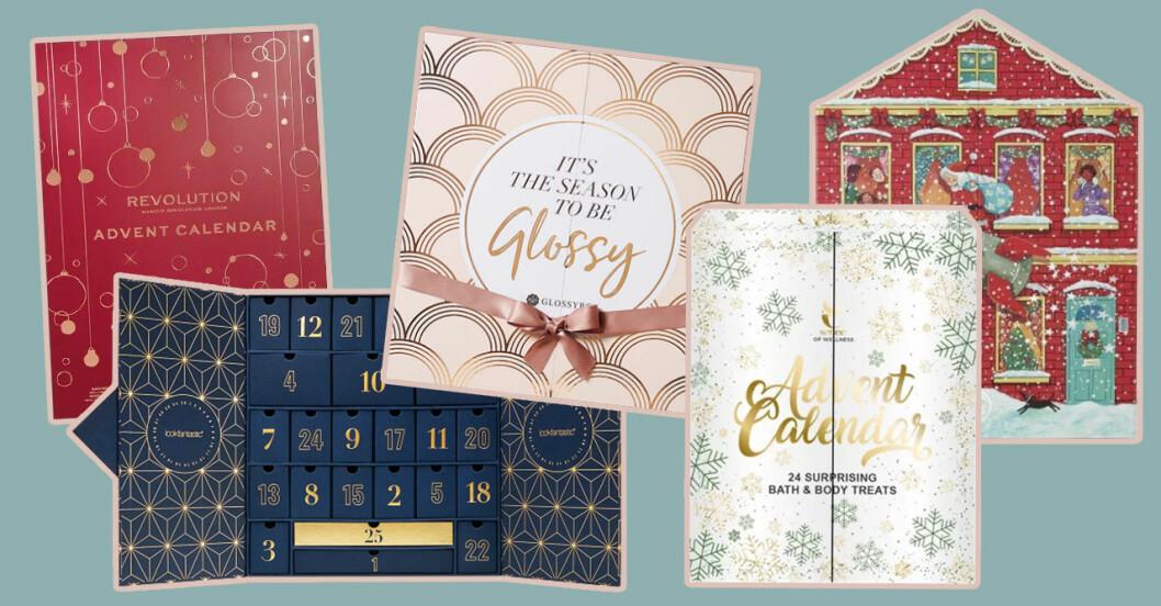 Adventskalendrar med smink och skönhetsprodukter till julen 2019