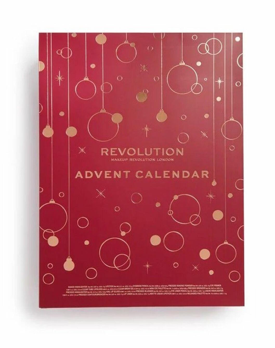 Adventskalender med smink för vuxna till julen 2019, från Revolution