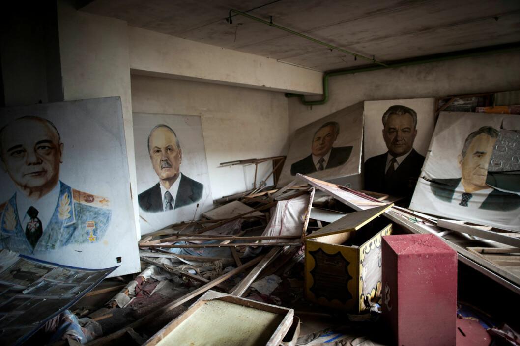 Affischer i Tjernobyl