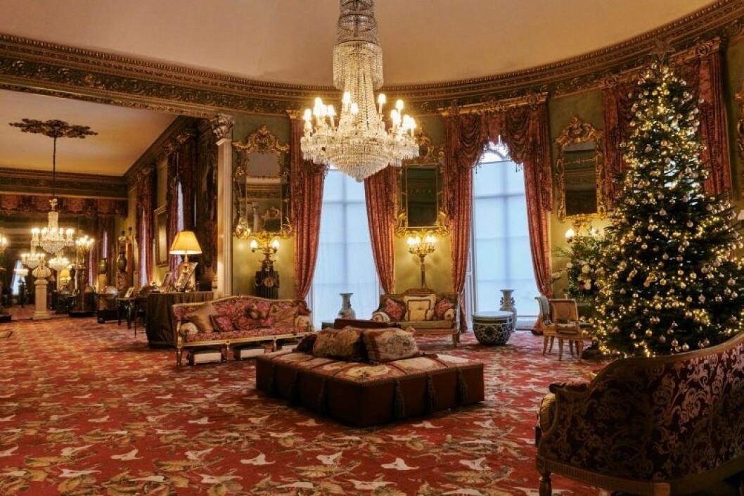 Ett av rummen i kungasviten in Belvoir Castle.