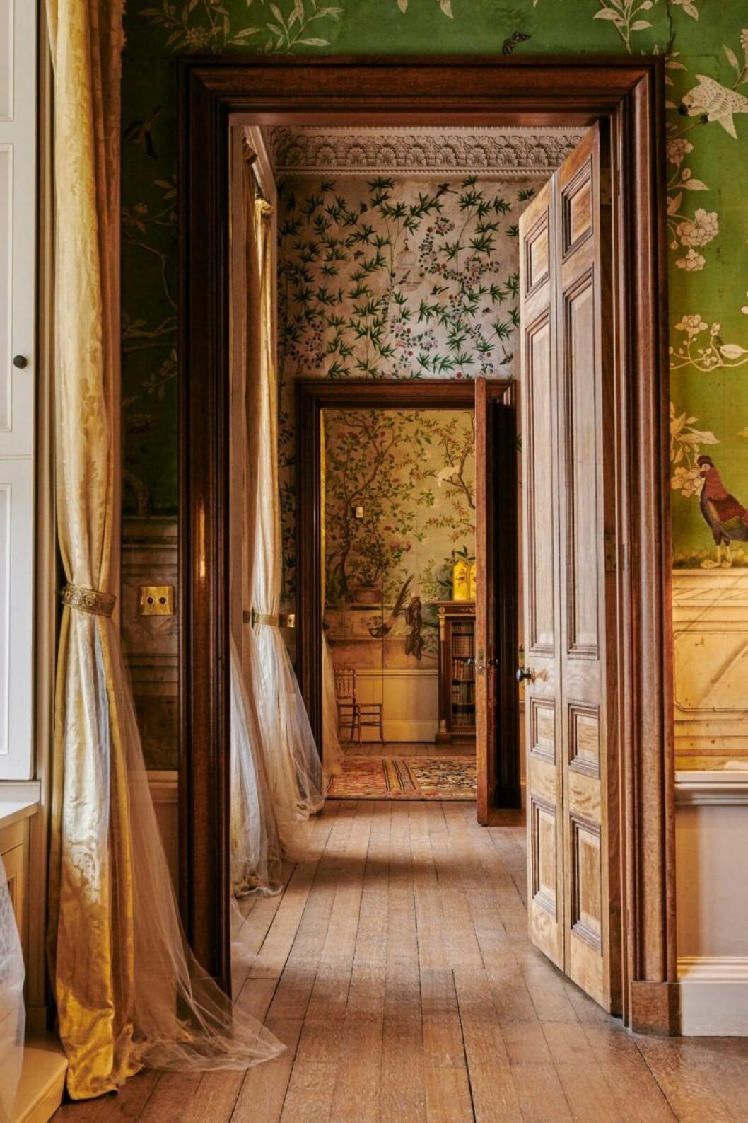 Korridor i Belvoir Castle