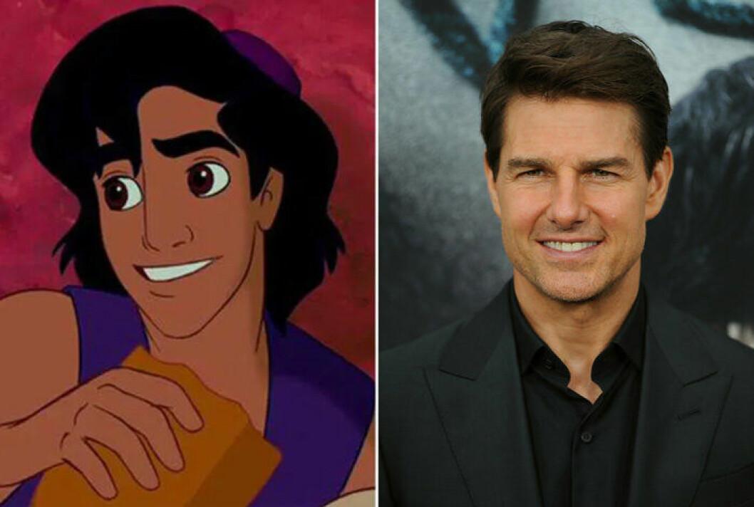 Aladdin och Tom Cruise