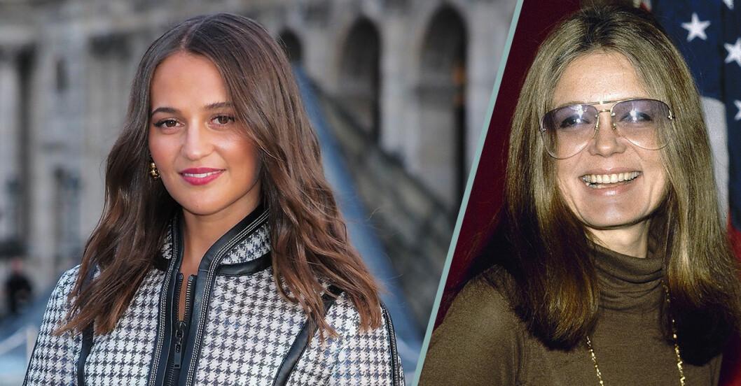 Alicia Vikander och Gloria Steinem