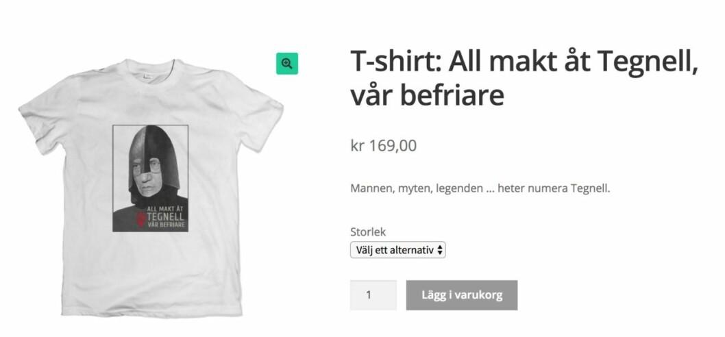 All makt åt Tegnell-t-shirt