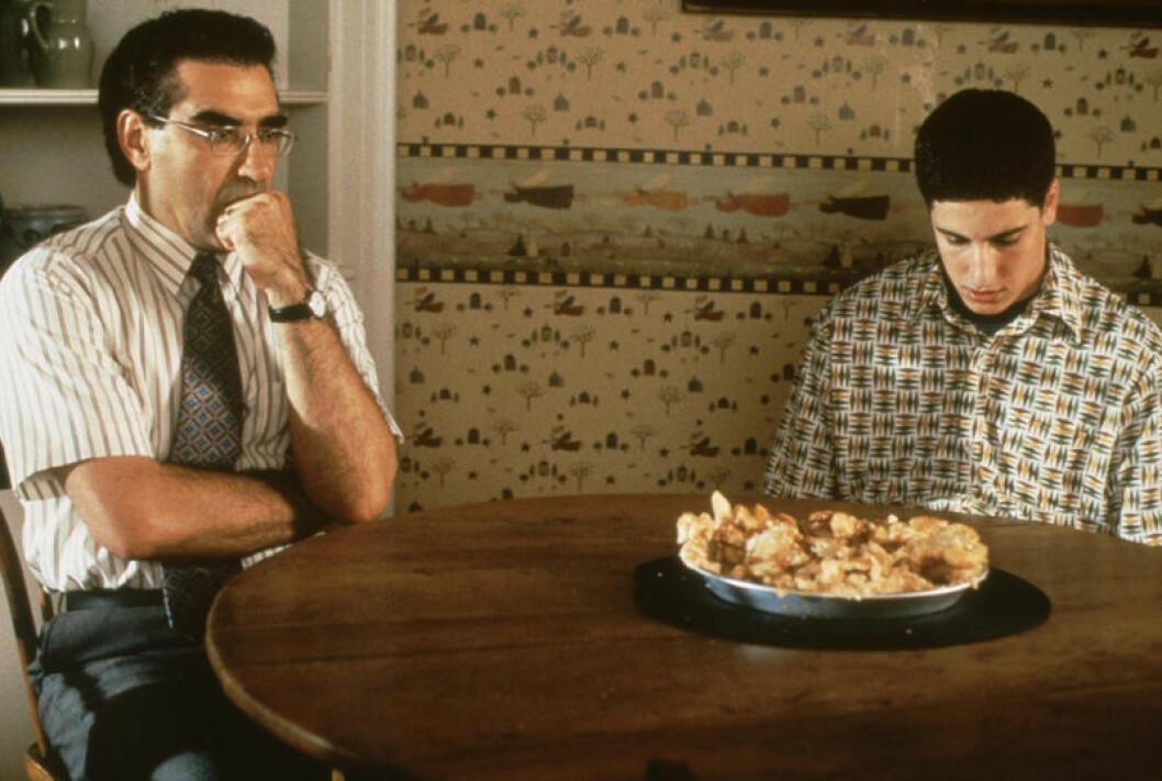 Jason Biggs och Eugene Levy i American Pie.