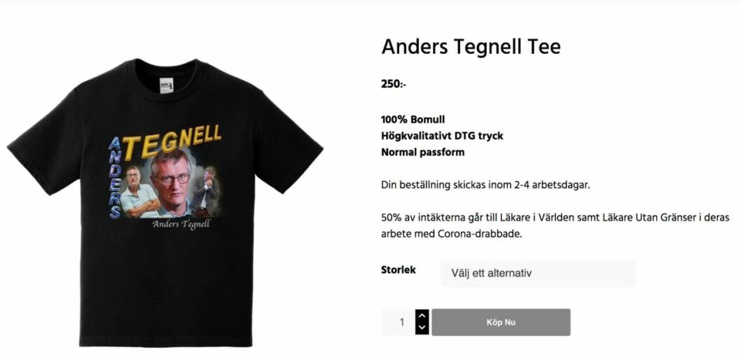 Anders Tegnell svart t-shirt