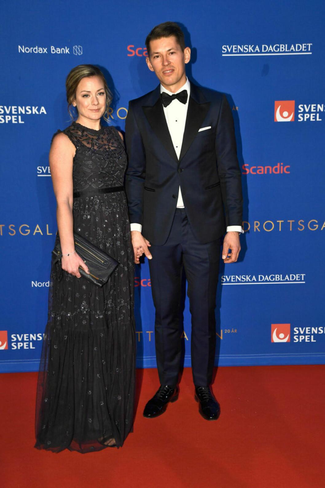 Röda mattan, André Myhrer och Madelene Tholin