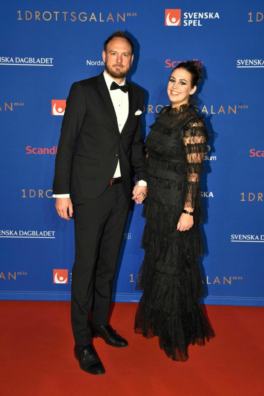 Röda mattan, Andreas Granqvist med frun Sofie