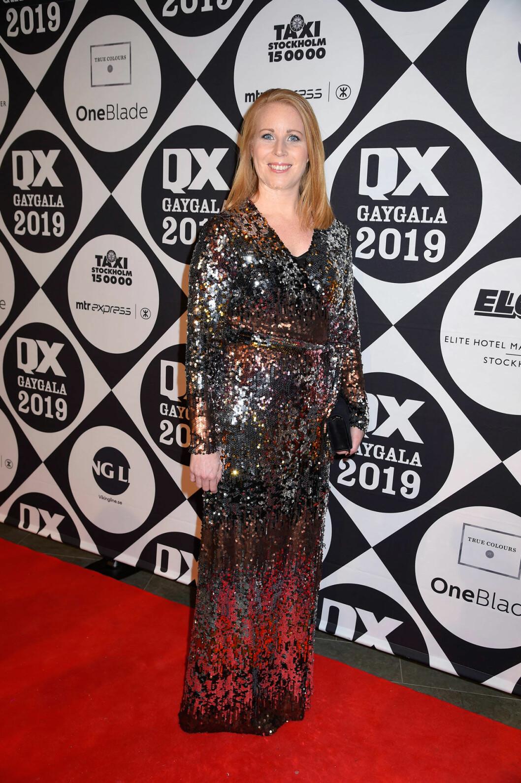 Annie Lööf på qX-galan 2019