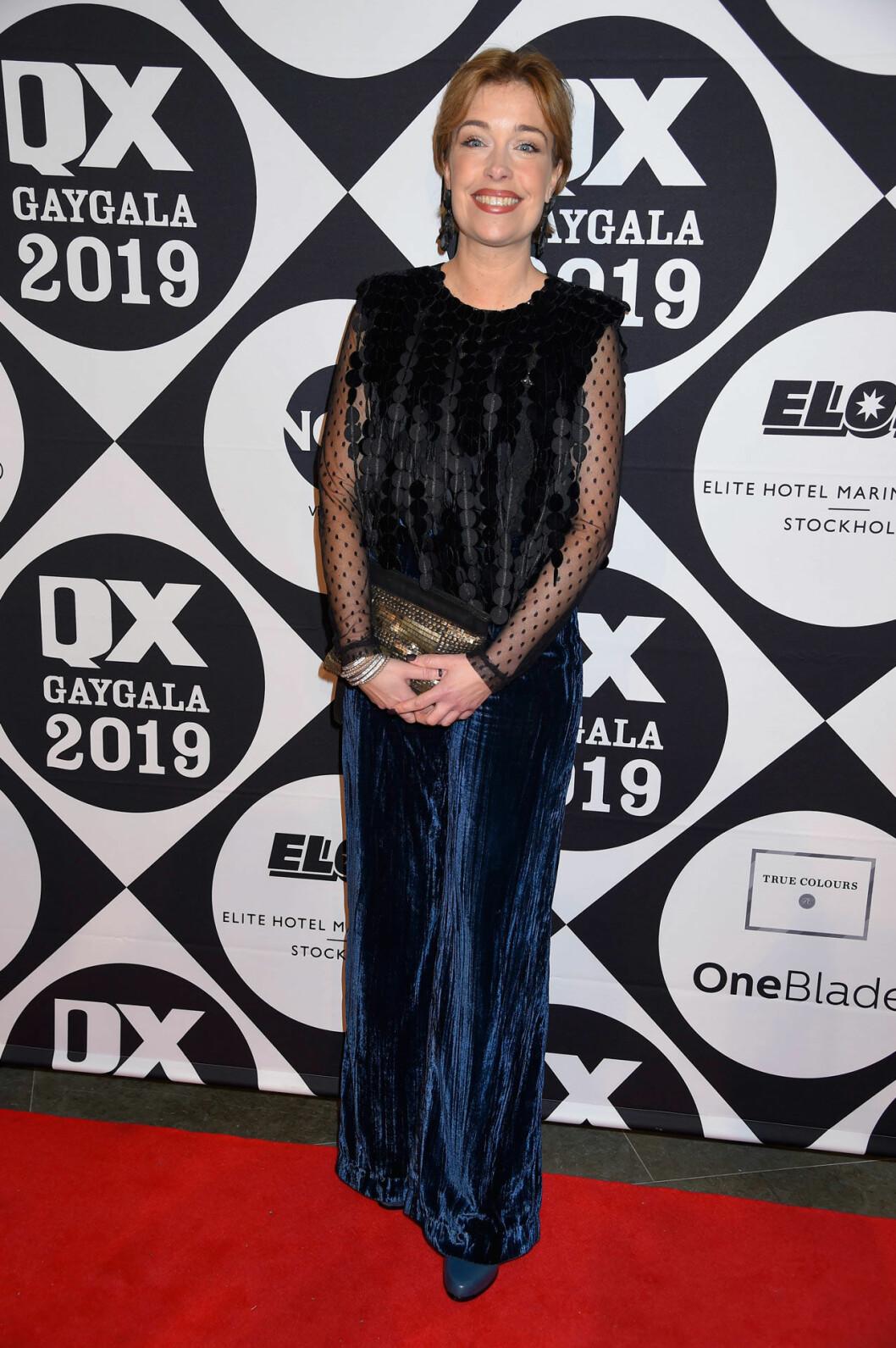 Annika Strandhäll på QX-galan 2019