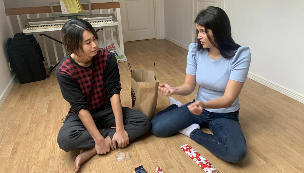 Aoi och Nicole.