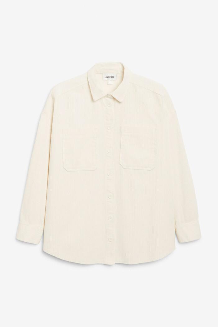 cremevit skjorta i manchester från monki