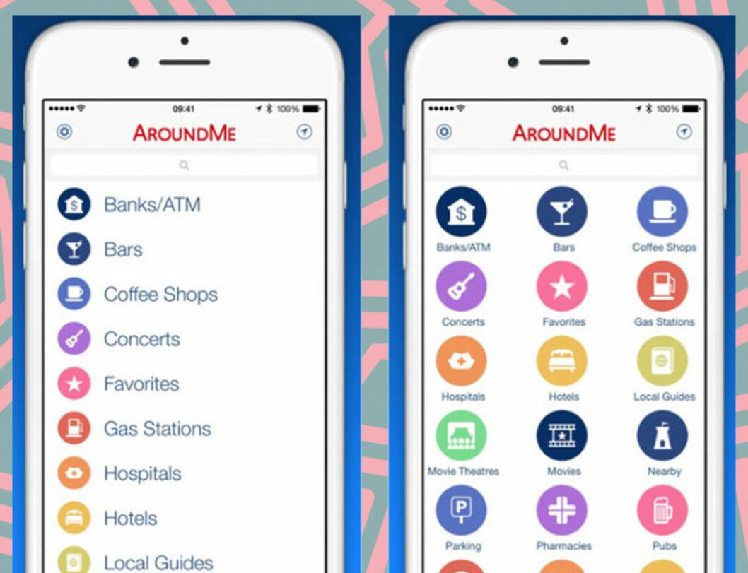 Appen AroundMe är perfekt på resan.