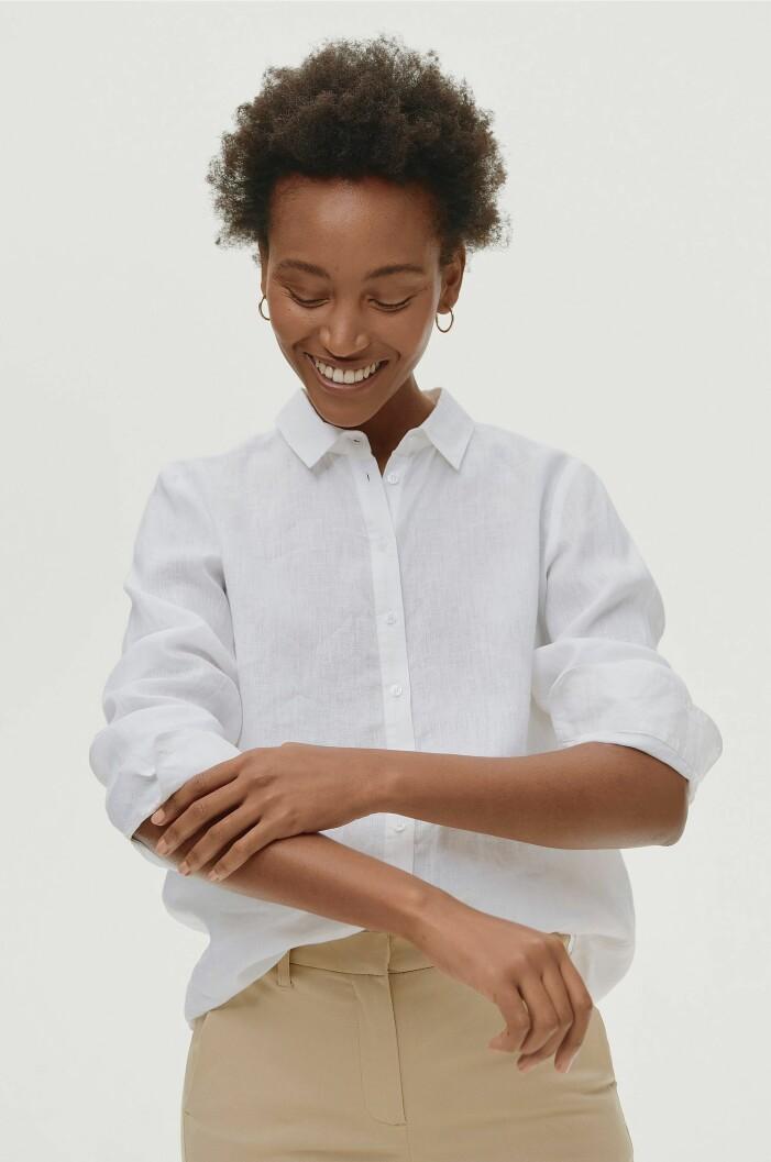 vit linneskjorta från ellos