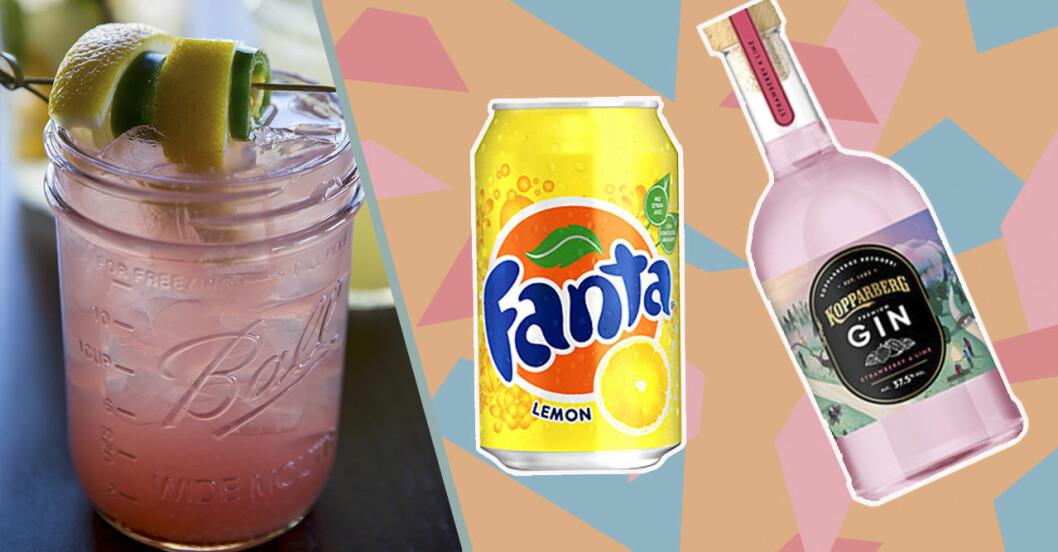 pink gin Fanta lemon
