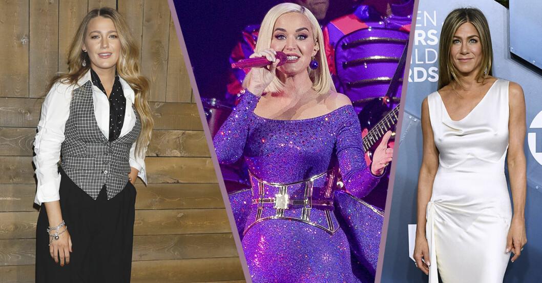 Blake lively, Jennifer Aniston, Katy Perry