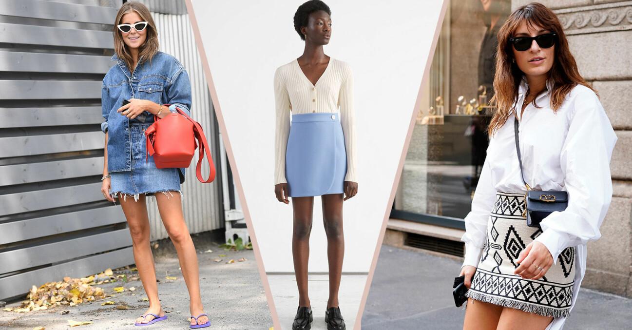 minikjolar korta kjolar sommar 2021