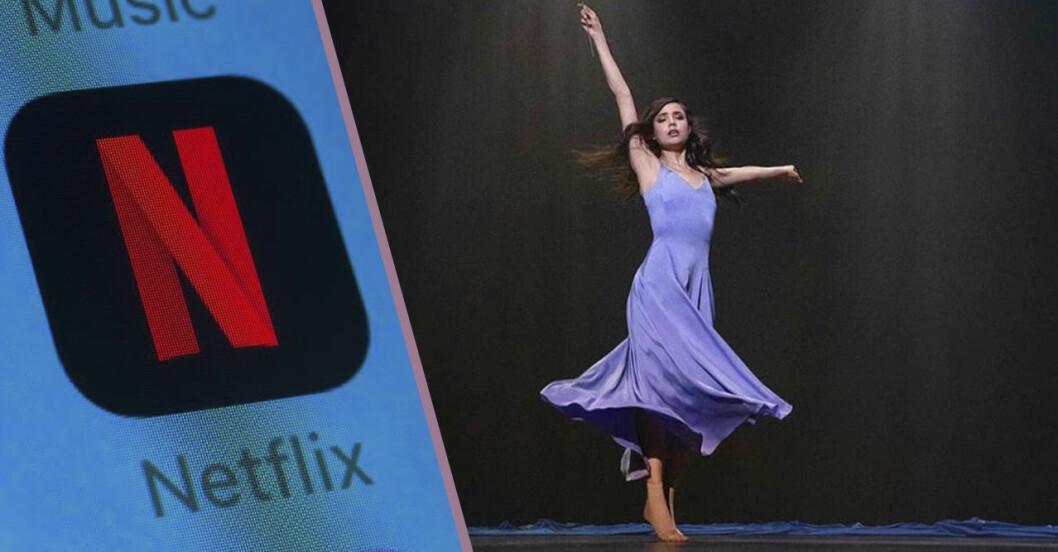 Sofia Carson dansar i lila klänning