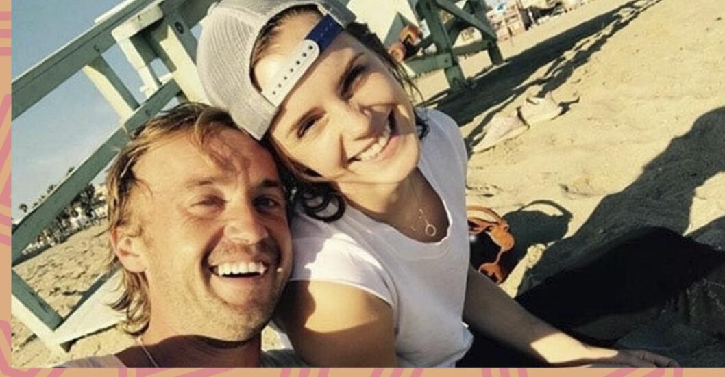 emma watson och tom felton i en selfie
