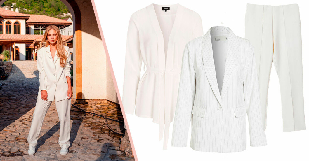 Vita kostymer till studenten 2020